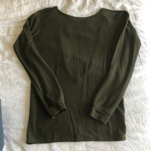 Olive long sleeve with low cut back